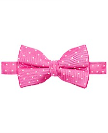 Big Boys Pink Dot Silk Bow Tie