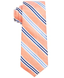 Lauren Ralph Lauren Big Boys Orange Stripe Silk Tie