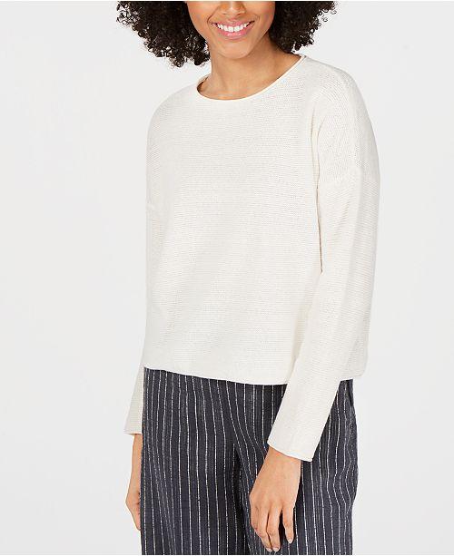 Eileen Fisher Round-Neck Knit Top