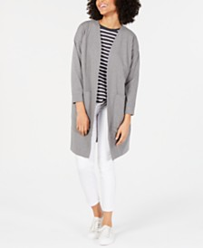 Eileen Fisher Bracelet-Sleeve Topper Jacket
