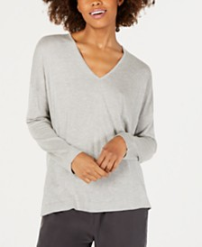 Eileen Fisher Silk & Cashmere-Blend V-Neck Sweater