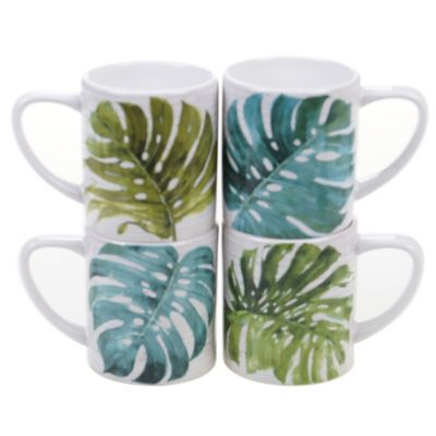 Palm Leaves 4-Pc. Mug