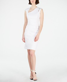 Calvin Klein Asymmetrical Cutout Sheath Dress
