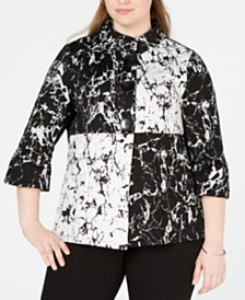 JM Collection Plus Size Colorblocked Jacket, Created for Macy's
