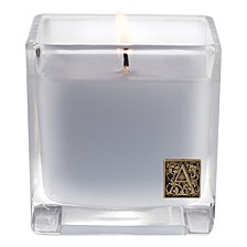 Viola Driftwood Cube Glass Candle