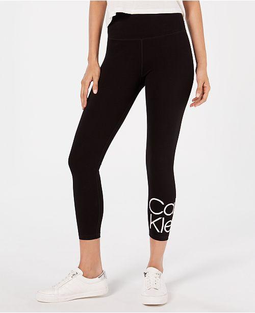 Calvin Klein Stacked-Logo High-Rise Leggings