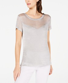 I.N.C. Metallic T-Shirt, Created for Macy's