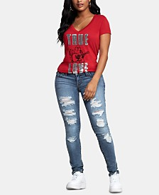 True Religion Distressed Stella Skinny Jeans
