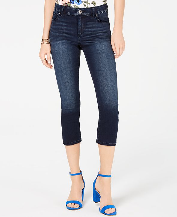 INC International Concepts INC INCFinity Stretch Cropped Jeans in Curvy, Created for Macy's