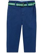a8bcab68aa7 Polo Ralph Lauren Baby Boys Belted Stretch Chino Pants. Quickview. 4 colors