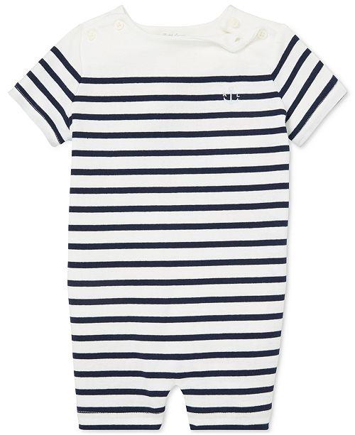 e3df7c9eb Polo Ralph Lauren Baby Boys Striped Cotton Shortall & Reviews - All ...