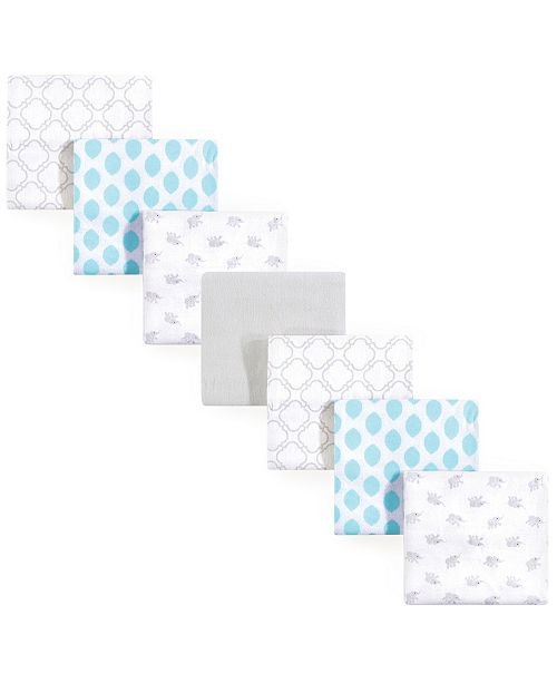 Luvable Friends Unisex Baby Flannel Receiving Blankets, Elephant, One Size