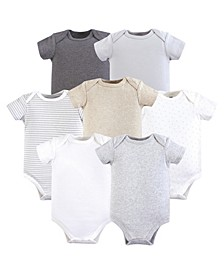 Baby Girls and Baby Boys Cotton Bodysuits, Neutral 5-Pack