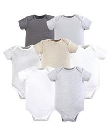 Hudson Baby Unisex Baby Cotton Bodysuits, Neutral 5-Pack, 0-24 Months