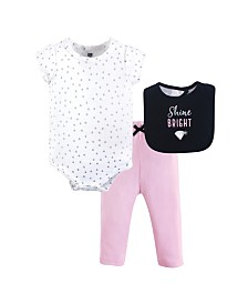 Hudson Baby Unisex Baby Clothing Set, Shine, 3-Piece Set, 0-9 months