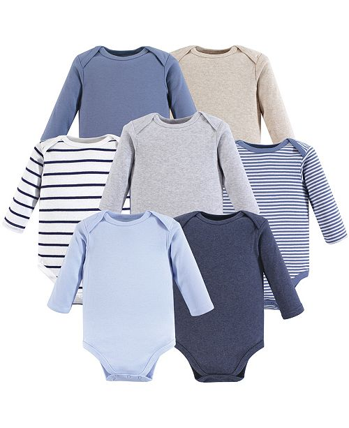 3f768fd392ef Baby Vision Hudson Baby Unisex Baby Long Sleeve Bodysuits, 7-Pack, 0 ...