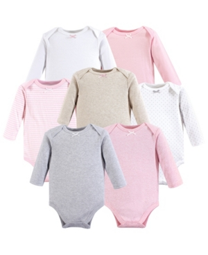Baby Vision 0-24 Months Unisex Hudson Baby Baby Long Sleeve Bodysuits, 7-Pack