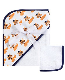 Unisex Baby Hooded Towel and Washcloth, 2-Piece Set, One Size