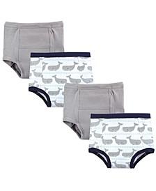 Hudson Toddler Girls and Toddler Boys Training Pants, 4-Pack