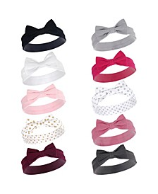 Girl Cotton Headbands, 10 Pack, One Size