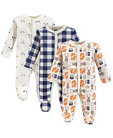 Hudson Baby Unisex Baby Preemie Sleep Play, 3-Pack, Premie