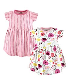 Baby Girl Organic Cotton Dress, Short Sleeve 2-Pack