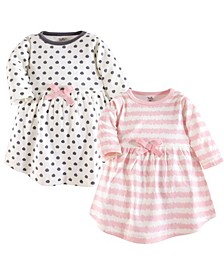 Toddler Girl Organic Cotton Dress, Long Sleeve 2-Pack,