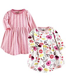 Baby Girl Organic Cotton Dress, Long Sleeve 2-Pack