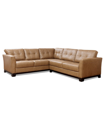 Martino Leather 2-Piece Sectional Sofa (Sofa and Apartment Sofa) - Sectional Sofas And Couches - Macy's