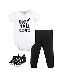 Baby Vision Baby Bodysuit, Pant and Shoes, 3-Piece Set