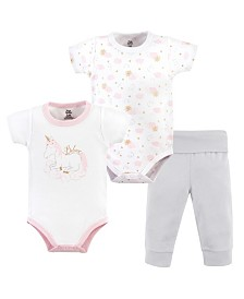 Yoga Sprout Unisex Baby Bodysuit and Pant, 3-Piece Set, 0-24 Months
