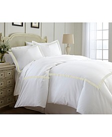600 Thread Count 3-Piece Satin Ribbon Duvet Set - King