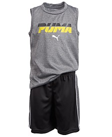 Puma Toddler Boys 2-Pc. Performance Muscle Tank Top & Shorts Set