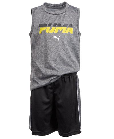 Puma Toddler Boys 2-Pc. Performance Muscle Tank Top & Shorts Set