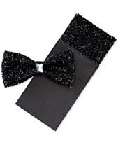 e2b3e90337b Tallia Men s Bling Bow Tie   Pocket Square