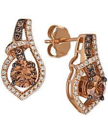 Le Vian Chocolatier® Diamond Drop Earrings  (1-1/6 ct. t.w.) in 14k Rose Gold