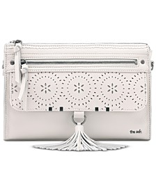 Leucadia Perforated Leather Crossbody Bag