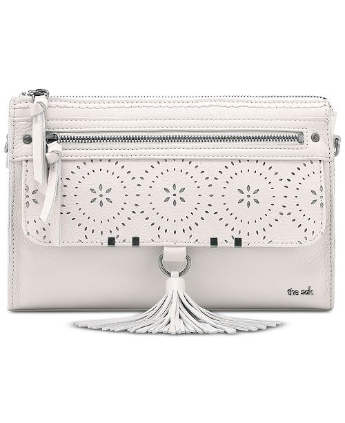 The Sak Leucadia Perforated Leather Crossbody Bag