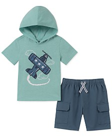 Kids Headquarters Baby Boys 2-Pc. Printed Hoodie & Cargo Shorts Set