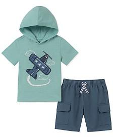 Kids Headquarters Baby Boys 2-Pc. Printed Hoodie & Cargo Shorts Set