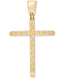 Men's Cross Pendant in 14k Gold