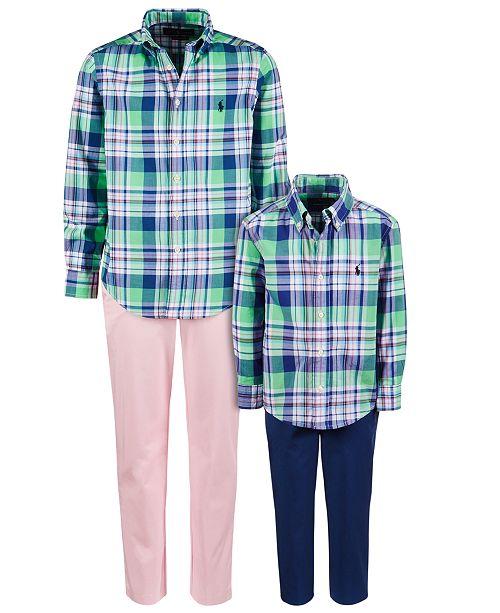 Polo Ralph Lauren Brothers Plaid Shirt & Twill Chino Pants