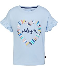 Tommy Hilfiger Baby Girls Ruffle Sleeve Cotton T-Shirt
