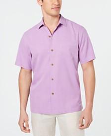 Tommy Bahama Men's Micro Diamond Silk Shirt, Created for Macy's