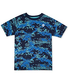 Timberland Big Boys Woodridge Camouflage Logo T-Shirt