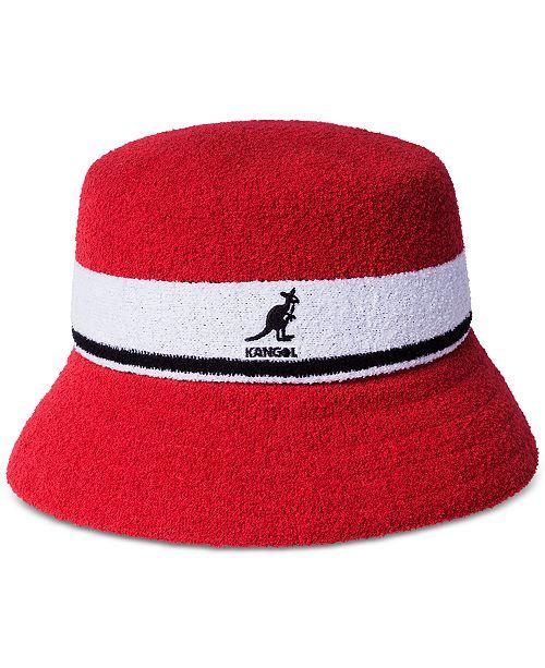 ec27b3c6e5852c Kangol Men's Striped Bucket Hat & Reviews - Hats, Gloves & Scarves ...