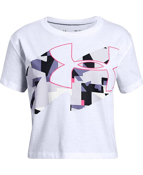 Under Armour Big Girls Print Fill Logo Graphic T-Shirt