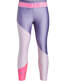Under Armour Big Girls Armour HeatGuard Colorblocked Cropped Tights
