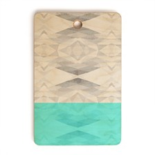 Deny Designs Aqua Rectangle Cutting Board