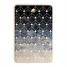 Blue Hexagons and Diamonds Rectangle Cutting Board